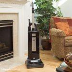 Black Sebo vacuum cleaner in a living room