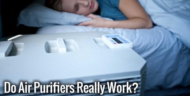 Do Air Purifiers Really Work? showing woman sleeping in near an IQair air purifier