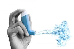 high humidity levels asthma inhaler